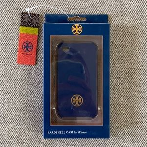 NWT Tory Burch navy blue iPhone case, for iPhone 4